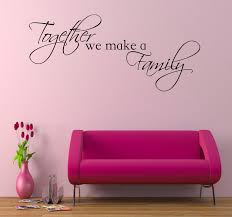 together we make a family wall art sticker room lounge bedroom zoom
