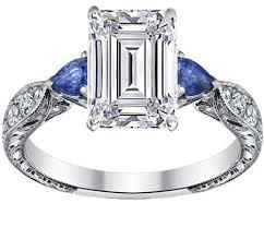 sapphire emerald cut engagement rings engagement ring emerald cut engagement ring blue sapphire