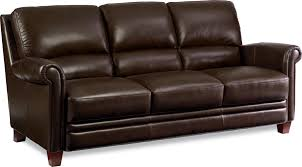 Lazy Boy Leather Sofa by Leather Sofa With Bustle Back And Rolled Arms By La Z Boy Wolf