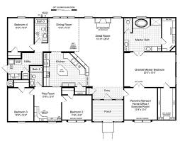 4 bedroom open floor plans house plans 4 bedroom 3 bath homes floor plans