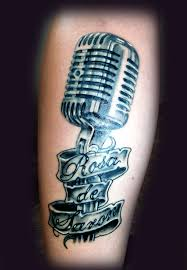 42 microphone tattoos meanings photos designs for men and women