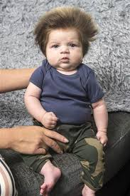 hair cuts for 18 month old boy meet the 9 week old baby who s going viral for his full head of