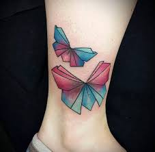 61 beautiful origami inspired tattoo designs tattooblend