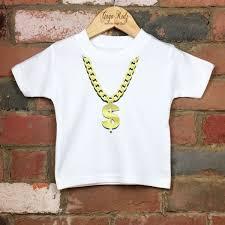 necklace shirt images Gold chain necklace kids tshirt various sizes gaga kidz JPG