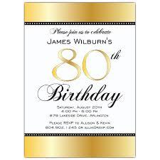 birthday invites awesome 80th birthday invitations designs 80th