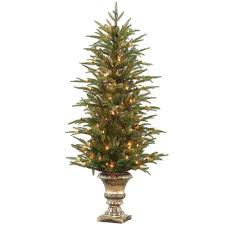 4 5 ft feel real fraser grande potted artificial tree