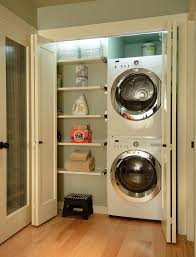 Contemporary Laundry Room Ideas Seattle Stackable Washer Dryer Laundry Room Contemporary With Wall