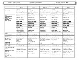 sample lesson plan template business example preschool weekly 44