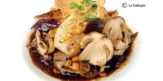 cuisiner les pleurottes escalopes de foie gras poêlées fricassée de cèpes et pleurotes