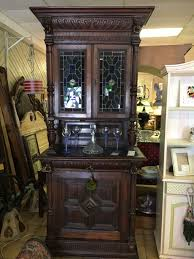 Furniture Wine Bar Cabinet Antique Wine Bar Cabinet Hutch Stained Glass Uppers Furniture