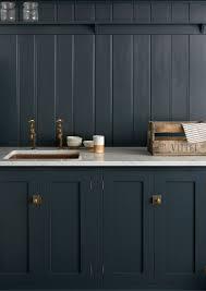 Dark Shaker Kitchen Cabinets Dark And Moody Kitchen With Black Cabinets Black Shiplap And