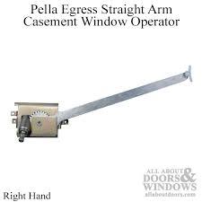 Awning Window Mechanism Egress Casement Window Operator Straight Arm Right Hand