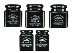 100 black kitchen canister sets 14oz glass storage jar 14oz