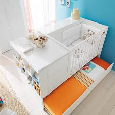 Pali Design Com Convertable Baby Kid White Sand Gloss Cot Voyager By Pali