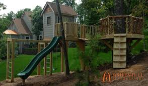 residential projects backyard playgrounds tree forts playhouses