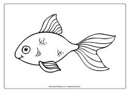 goldfish colouring pages