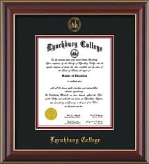 college diploma frame lynchburg college diploma frame gold l w lc seal on