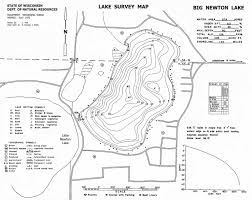 Wisconsin Lake Maps by Crivitz Recreation Association Fishing Opportunities On High