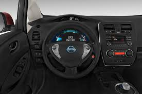 nissan leaf interior 2015 nissan leaf steering wheel interior photo automotive com