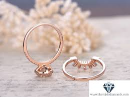 wedding band set 7mm cut moissanite engagement ring set diamond halo sunburst