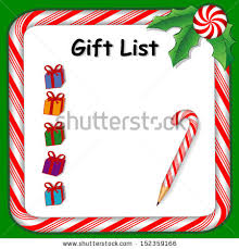 gift list gift list stock images royalty free images vectors