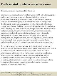top 8 admin executive resume samples