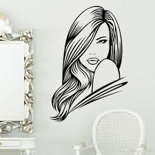 hot sell beauty girl with long hair carved vinyl wall sticker hot sell beauty girl with long hair carved vinyl wall sticker removable kids woman bedroom background stickers home decoration photo frames baby room wall