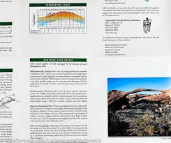 Utah National Park Map by Trail Map Of Arches National Park Utah 211 National