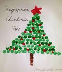 fingerprint christmas light craft for kids diy christmas card