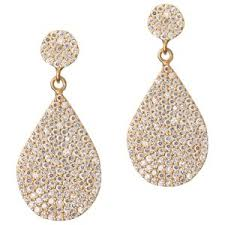 earring drop gold drop earring with pave pear polyvore