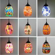 Flower Pendant Light Soft Ceramic Glass Pendant Light And Pastoral