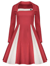 vintage dresses red l vintage fit and flare dress gamiss