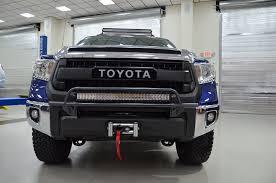 2014 tundra led light bar n fab trd pro build toyota tundra front shot