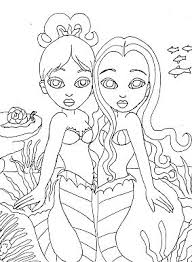 mermaid coloring pages beach finding nemo coloring
