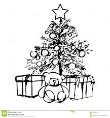 bear under the christmas tree stock vector image 64094777