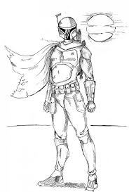 boba fett coloring pages printable coloring pages