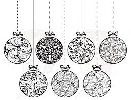 ornament black and white ornament clip
