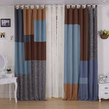 chic linen and cotton window curtains in eco friendly style