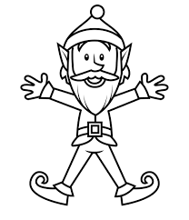 free printable coloring pages of elves elves coloring pages topf pic singular for kids on the shelf