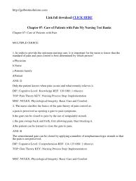 test bank for medical surgical nursing concepts u0026 practice 2nd