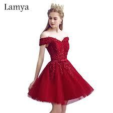 Aliexpress Com Buy Lamya Vintage Sweatheart Lace Bride Gown Aliexpress Com Buy Lamya Red Lace Elegant Knee Length Prom