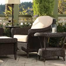 Patio Club Chair Wicker Club Chair 50 Sunbrella Fabrics Cottage Collection