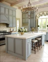french kitchens dark brown wooden painted base classic hanging kitchen white marble countertop gas cooktop butcher block countertop arch faucet feat laminate wooden floor beige