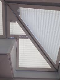 a tricky shaped perfect fit roof blind for a conservatory in the