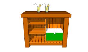woodwork build wood outdoor bar pdf plans tierra este 9431