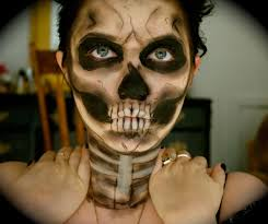 Halloween Skeleton Make Up by Halloween Skull Makeup Youtube