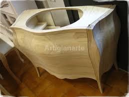 mobile bagno grezzo mobile bagno bombato artigianarte