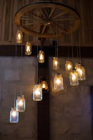 Wagon Wheel Lighting Fixtures Home Lighting Diy Jar Light Fixture Diy Jar Light