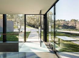glass wall house pass main house in california by walker workshop