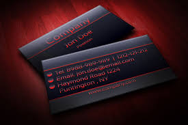 sample business card templates free download modern black and red business card template businesscardszone